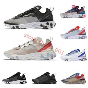 2020react element 87 55 running shoes for men women Anthracite Light Bone triple black white RED ORBIT fashion mens trainers sports Hococal