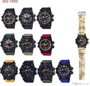 2020 11 colores Fábrica Producto Relojes deportivos para hombres Relojes Hombres Reloj LED Cronógrafo Todos los trabajos de función Impermeable con caja original