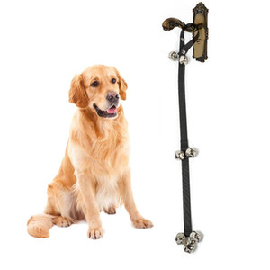 Творческие собаки дверные звонки практические Pet Cat дверной звонок износостойкость прочные ленты с двумя маленькими колокольчиками лучше колокола для ваших домашних животных DH0318