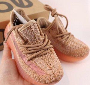 New Kids Infant Дизайнерская обувь молодежи кроссовки Клей Ture Форма Static Wave Runner Мальчик Девочка Дети малышей кроссовки