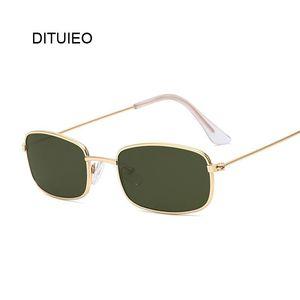 Retro Rectangle Sunglasses Men Women Luxury Brand Designer Metal Frame Circle Sun Glasses Male Female Fashion Shades Oculos