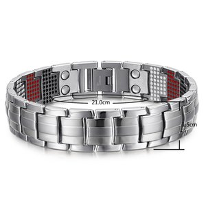 Braccialetto magnetico di salute dell'equilibrio del braccialetto magnetico di salute degli uomini Braccialetti di titanio d'argento Disegno speciale per il maschio