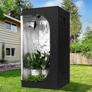 Jardín Invernaderos de inicio personalizable Uso planta hidropónica crece la tienda desmontable hogar crecimiento de las plantas Negro Shed Shed hidropónica