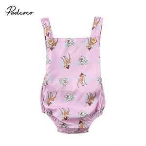 Pudcoco Infant Newborn Baby Kids Girls Clothes Cotton Sleeveless Backless Bodysuit Outfits 3-24months Pudcoco
