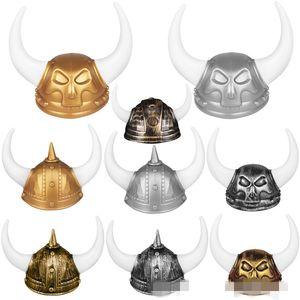 재미 있은 해적 모자 옥스 호른 모양 악마 장군 모자 할로윈 메이크업 공 수행 프로 모자 카니발 골동품 디자인 3 9wy k1