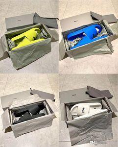 2020 Novos mais quente vender sapatos Slides Verão Praia indoor Plano B Piscine Piscina Sandals pele de carneiro Deslize Casal Casual Chinelos Casa de Spike sandália