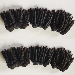 Factory wholesale Brazilian Virgin Hair weft sexy funmi Curly short hair 8-18inch Indian remy Human Hair extension 3Bundles in stock