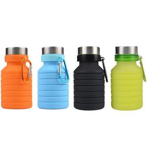Nova 550 ML Portátil Garrafa de Água de Silicone Retrátil Dobrável Garrafa De Café Ao Ar Livre de Viagem Beber Dobrável Esporte Bebida Chaleira