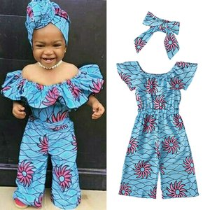 Baby Girl Set Romper+headwear Strapless Printed Kids 2pcs Set Fashion Cute Summer Children Jumpsuit Suits