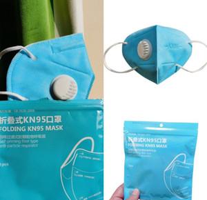 24H d'expédition Masque avec filtre Masque pliant Valve Anti Respirato antipoussière PM2,5 Livraison gratuite Simple Paquet