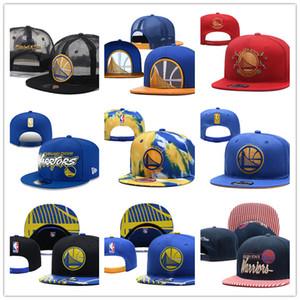 Atacado time de basquete Warriors 2 Snapback beisebol snapbacks Chapéus para ajustável ordem da mistura Womens Plano Mens Cap Sports Hat