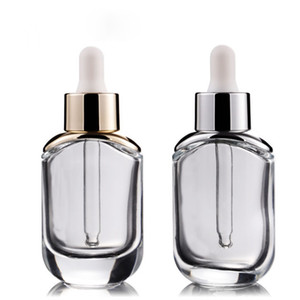 Newest 30ml Essence Bottles High-grade Cosmetic Bottle Empty 1OZ Thick Shoulder Bottle Cosmetic Packaging for Skin Care Cream