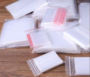 Seal trasparenti borse riutilizzabili Forte serratura della chiusura lampo Piccolo Chiaro plastica risigillabili sacchetti di polietilene imballaggio per alimenti bagagli, gioielli e così via
