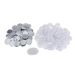 Set of 100 Durable Metal Button Parts 44mm 1 3 4Inch for Badge & Button Making Machine
