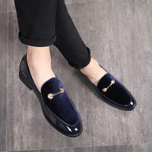 M-anxiu Moda Apontou Toe Sapatos de Vestido Dos Homens Mocassins Oxford de Couro de Patente Sapatos para Homens Casamento Formal Plu Tamanho 37-48