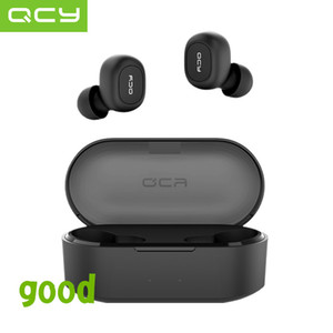 Qcy Qs2 Tws Auriculares Bluetooth V5.0 Auriculares inalámbricos estéreo 3D para deportes con micrófono dual T190629