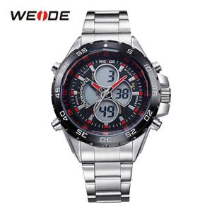 WEIDE Новая мода Мужчины Спортивные часы Top Luxury Brand Полная сталь Ремешок Военный Аналоговый Цифровой Причинная Часы Человек Relogio Мужчина для