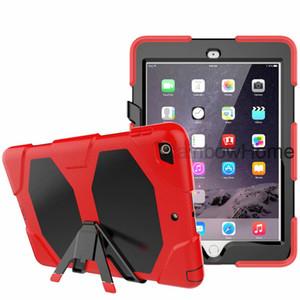 Militar extrema Forro protector del caso del defensor impermeable para Mini nuevo iPad 2 3 4 5 6 Aire Aire2 Pro 9.7 10.2 Samsung Tab un sostenedor del soporte