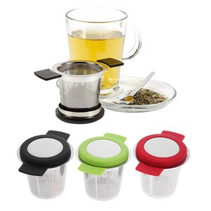 Stainless Steel Reusable Tea Infuser Basket Fine Mesh Tea Strainer With Handles Lid and Coffee Filters for Loose Tea Leaf
