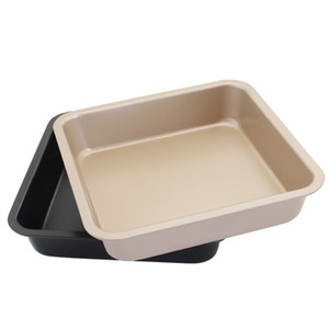 8-дюймовый антипригарный квадратный противень для выпечки DIY торт формы для выпечки хлеб чизкейк каравай металлическая духовка кастрюля тост лоток