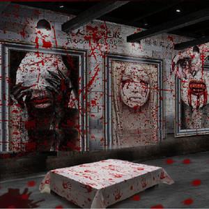 الديكور هالوين الدعائم الدم مفرش المائدة راية الدامي شبح مخيف حزب بيت مسكون تزيين