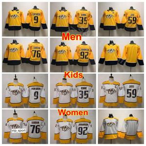 Männer Kinder Frauen Nashville Predators Trikots Hockey Jugend 76 PK Subban 35 Pekka Rinne 92 Ryan Johansen 59 Roman Josi 9 Filip Forsberg