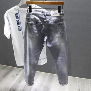 2020 thin nine-point jeans Nine nine Jeans ankle-length pants men's brand fashion stretch slim feet nine-point pants
