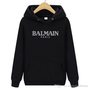 La moda Balmain Hombres sudadera Coats extendió chaqueta palangre hip hop streetwear mujeres delgadas justin bieber ropa de abrigo rock camiseta