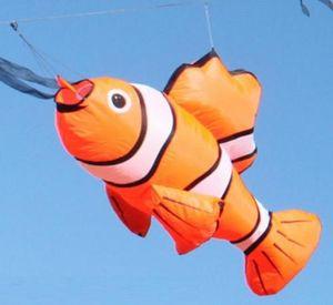 Los detalles acerca de 3D grande de 5 pies Nemo línea única de Kite suave línea del lavadero Show Festival al aire libre de la cometa