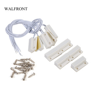 Freeshipping 5pcs Lot*10 Wired Door Window Sensor Magnetic Recessed Reed Switch Home Alarm System Security Device Door Detector Tools