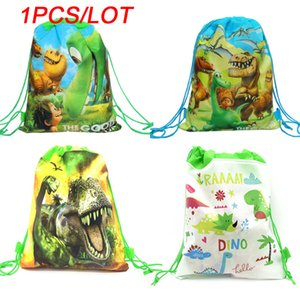 Party Bags For Kids Birthdays Non-Woven Drawstring Pouch Party Gift Bag Cartoon Dinosaur Theme Kids School Backpack Shopping Bag