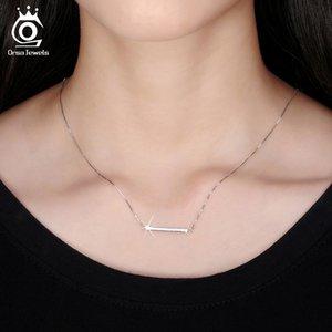 Fashion-argento placcato Bar collane del pendente gioielli originali del nastro collana amante regalo di Natale 6PCS / Lot all'ingrosso Snw09