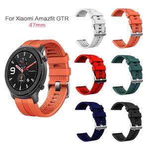 Amazfit GTR 47 mm Band Huawei GT takip kemeri için Xiaomi Huami Amazfit Pace / Stratos 2 2S kemeri için silikon Watchband Bilezik