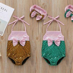 Moda Hot Criança Baby Kids babadores menina Swimwear Swimsuit Bikini maiô Mermaid Beachwear Natação do verão Suit