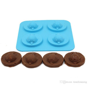 크리 에이 티브 4 개 홀 3D 돌고래 아이스 금형 실리콘 아이스 큐브 트레이 DIY 케이크 초콜릿 금형 메이커 위스키 와인 바 액세서리 도구 무료 배송
