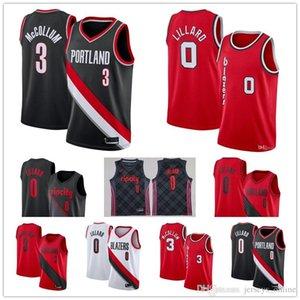 Men's Portland Trail jersey Blazer Damian 0 Lillard cj C.J. McCollum 3 Finished throwback stitched basketball jerseys