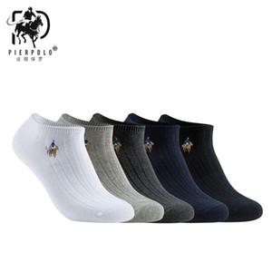 İskele Polo Yeni Moda Marka Pamuk Meia Rahat erkek Iş Nakış Yaz Mutlu Çorap Hiçbir Kutu MX190719