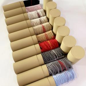 С рулонной трубкой коробка 2019 зима оригинальный 100% кашемировый шарф для мужчин и женщин дизайнер классический проверить шарфы пашмины бесконечность шарфы шали