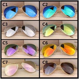 최고의 새로운 선글라스 클래식 58mm 도매 눈 수지 파일럿 금속 브랜드 선글라스 보호 UV400 판매 pqttj