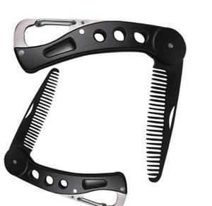 Labra la herramienta de la barba de la nueva belleza del acero inoxidable de la barba Peine plegable que endereza el peine de los hombres de alta calidad portátil conveniente Inofensivo