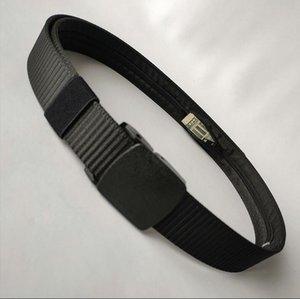 Strap New Pom Plastic Buckle Nylon Canvas Wallet Belts Men and Women Outdoor Zipper Hidden Wallet Safety the Tactical Belt