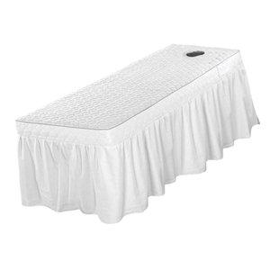 Fits 190x80cm stationäre und tragbare Tabellen- Professionelle Massage Tisch Rock Schönheit Bettdecke Valance Blatt (21inch-Tropfen-Rock)