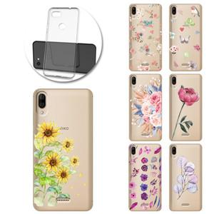 Flor Hoja retro pintado por teléfono al caso suave de la caja de Wiko Y50 Y60 Y70 Y80 View3 Lite Funda