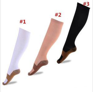 Cobre compresión Calcetines fatiga anti Medias de compresión Calcetines unisex Alivio del dolor Operando mágicas Stretch calcetines de compresión Deportes