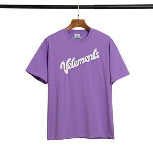 SS20 nueva llegada Vetements marca de diseño de calidad superior Hombres Mujeres camiseta impresión de la moda camisetas de manga corta 217