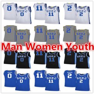2020 выполненный на заказ Duke Blue Devils баскетбольного Остин Риверс 0 Cam Красноватого 2 Бобби Херли 11 Джерси любого имя номер размер S-5XL