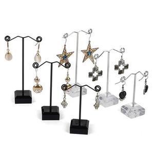 Fashioon mini orecchie metallo Rack acrilico a tre pezzi orecchini vetrine esposizioni dei monili Espositore da banco gioielli cremagliera