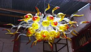 Dale Chihuly Estilo Mini candelabro de cristal Atacado Hand Blown Art Glass Chandelier com bolha de luz LED