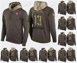 13 Pavel Datsyuk Detroit Kırmızı Kanatlar Askeri Camo Hood ABD Bayrağı 9 Gordie Howe 19 Steve Yzerman 20 Dan Renouf Libor Sulak Hoodies Tişörtü