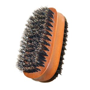 Double Side Wood Handle Shoe Brush Bristle Polish Buffing Cleaning Boot Soft